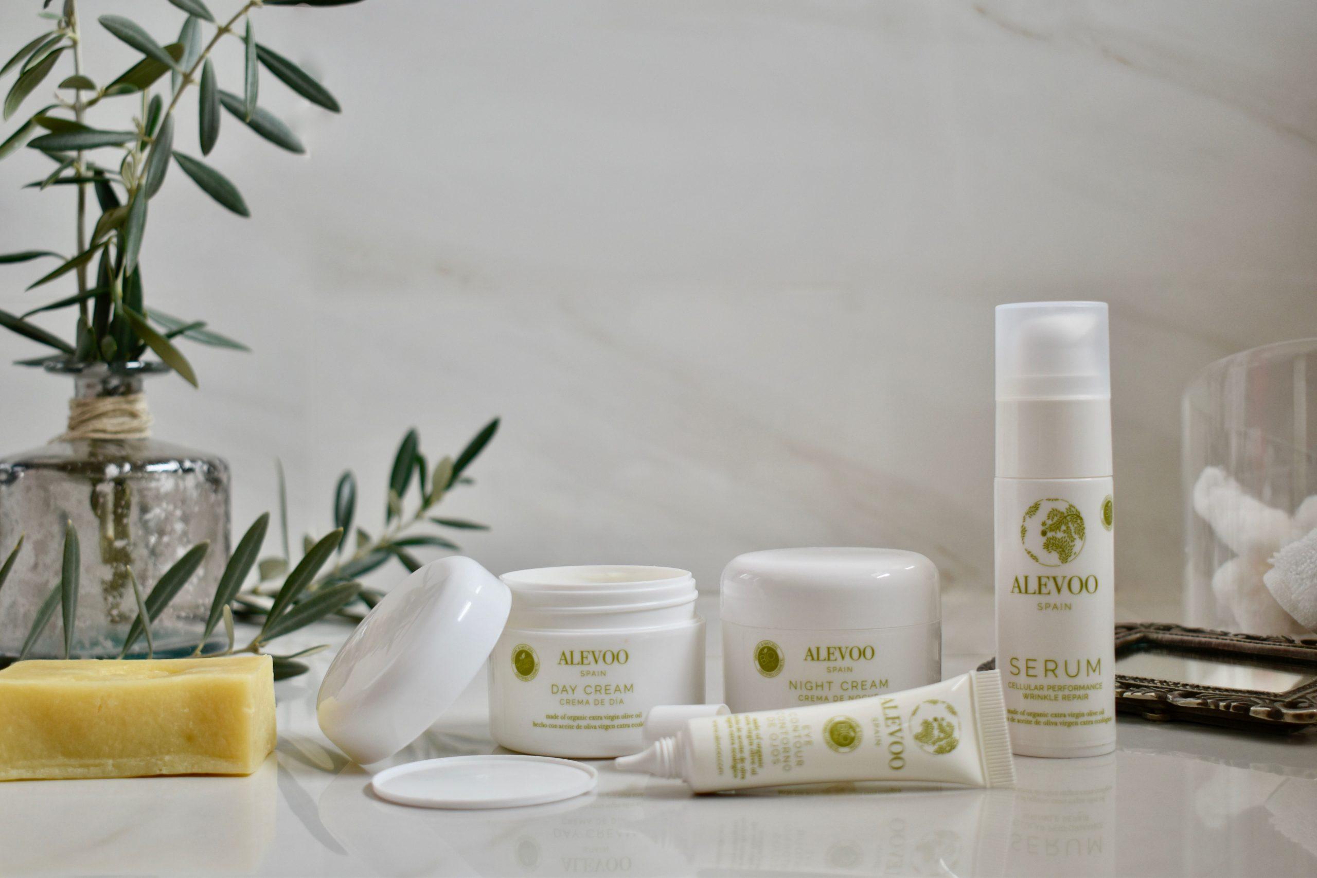 Cosméticos Alevoo con aceite de oliva virgen extra